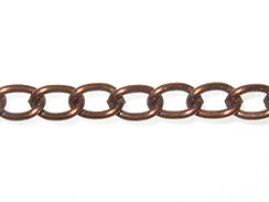 5mm Curb Chain: Antique Brass Finish