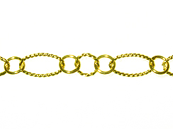 Fancy Oval & Round Chain: Hamilton Gold Finish