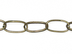 Oval Cable Chain: Antique Brass Finish