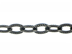 Textured GunMetal Link Chain