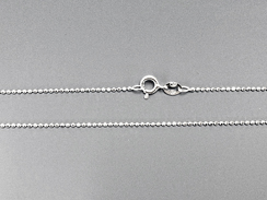 16-inch 1.2mm round Sterling Silver Diamond Cut Bead Chain Bulk Pack of 50