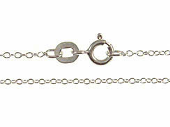 16-inch Rhodium Plated Sterling Silver 025 Cable Finished Chain