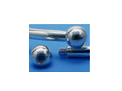 6mm Sterling Silver Screw off End Bead