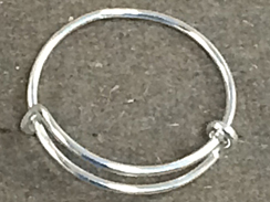2.2  to 2.6 inch Expandable  Sterling Silver Ring, 18 Gauge Wire, Bulk Pack of 50