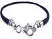 7.5-inch Leather Caprice Bracelet with Sterling Silver ends and Screw Cap