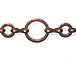 Round Link Chain: Antique Copper Finish - 25ft Spool