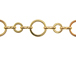 Round Link Chain: Gold Finish - 25ft Spool