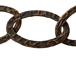 Fancy Hammered Oval Chain: Antique Copper Finish - 25ft spool