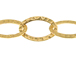 Fancy Hammered Oval Chain: Gold Plated