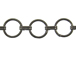 Round Link Chain: Gun Metal Finish