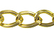 Textured Gold Plated Oval Link Chain