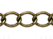 Curb Link Antique Brass Plated Chain
