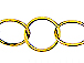 Circle Link Chain - Gold Plated