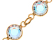 Swarovski Gold Plated Chanel Crystal Chain - Crystal AB  6.8mm stone