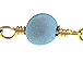Turquoise Gold Plated Chain