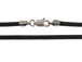 16-inch 2mm Round BLACK Leather Necklace With Sterling Silver Lobster Clasp