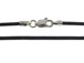 18-inch 1.5mm Round BLACK Leather Necklace With Sterling Silver Lobster Clasp