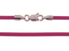 16-inch FUCHSIA 2mm Round Rubber Necklace with Sterling Silver Lobster Clasp