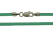 16-inch GREEN 2mm Round Rubber Necklace with Sterling Silver Lobster Clasp