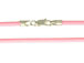 18-inch PINK 2mm Round Rubber Necklace with Sterling Silver Lobster Clasp?