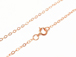 16-inch 14K Rose Gold Filled 1.3mm Flat Cable Chain Necklace