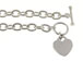 Sterling Silver 7-inch Heavy Cable Link Bracelet With Heart Tag
