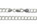 8-inch Sterling Silver 070 Double Link Chain Charm Bracelet