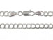 8-inch Sterling Silver 060 Double Link Chain Charm Bracelet