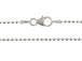16-inch Sterling Silver 1.5mm Bead Chain with Lobster Clasp