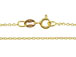 18-inch Gold over Sterling Silver Diamond Cut Cable Finished Chain