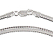 16-inch Sterling Silver 4mm Cubetto Omega Chain
