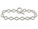 8-inch Sterling Silver Link Bracelet with Toggle Clasp