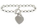 7-inch Sterling Silver Rolo Bracelet With Heart Charm