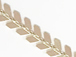 6.5mm Chevron Fish Bone Gold Chain, Electro Gold Plated