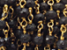 3mm Faceted Black Spenial Gold Plated Chain