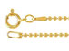 16-inch 14K Gold Filled 1.2mm Bead Chain Finished Necklace with Spring Ring Clasp