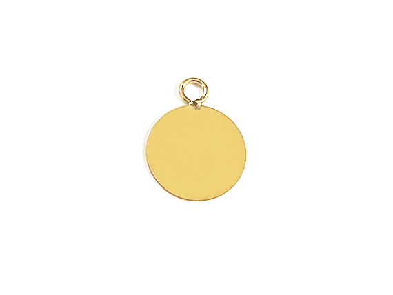 8mm Gold-Filled Flat Round Charm