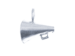 Sterling Silver Megaphone Charm