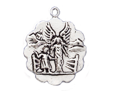 Sterling Silver Guardian Angel Charm