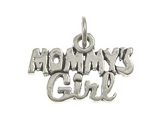Sterling Silver Mommy' s Girl Charm with Jumpring