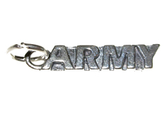 Sterling Silver Army Charm with Jumpring