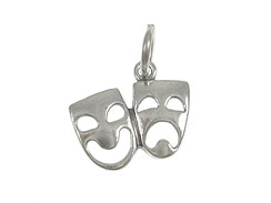 Sterling Silver Comedy Tragedy Charm with Jumpring