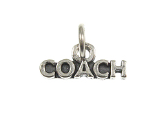 Sterling Silver Coach Charm with Jumpring