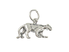 Sterling Silver Florida Panther Charm with Jumpring