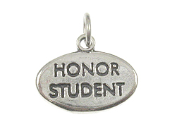Sterling Silver Honor Student Charm with Jumpring