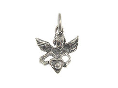 Sterling Silver Angel with  Heart