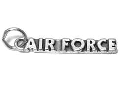 Sterling Silver Air Force Charm with Jumpring