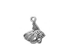 Sterling Silver Fish Charm with Jump Ring