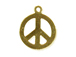 14mm Gold-Filled Peace Sign Charm