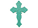 Large Fancy Turquoise Cross